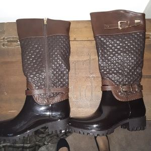Knee High Rain Boots - NEVER WORN
